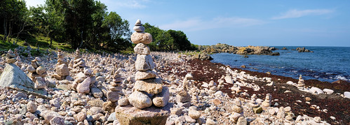 Rock stacking beach, Hammerknuden, Bornholm