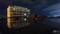 The Lake In The Sky (Tim van Zundert) Tags: water reflection durrington worthing westsussex housing construction urbex buildingsite night evening longexposure landscape sony a7r voigtlander 21mm ultron