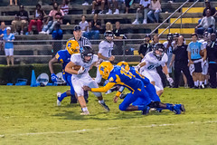 "PVHS v. Palatka '17-222 (mark.calvin33) Tags: pontevedra football nightgame highschool pvhs runningback blocker offense defense kick pass catch hit tackle rush rushingyards rushing student quarterback ""night ""friday night lights"" ""passing game"