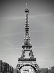 Eiffel tower (fabien.salmon) Tags: noiretblanc blackandwhite monument france hollidays vacances l canon paris eiffeltower toureiffel