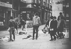 Watchful (Inpu) Tags: people black white bw nikon street calle madrid spain españa