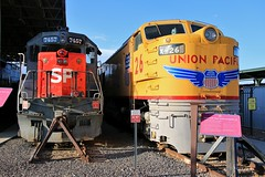 Hill Conquerors (BravoDelta1999) Tags: unionpacific up railroad southernpacific sp railway ogden unionstation utahstaterailroadmuseum utah emd sd45r 7457 ge 8500gtel gasturbine x26