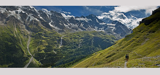 The road to Obersteinberg  , Canton of Bern, Switzerland. Panorama 2.Izakigur23.08.17, 15:27:04 no. 7414+7371.