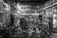 what a steel. (stevenbley) Tags: abandoned decay rust warpedwood woodfloors urbex urbanexploration grime leakyroofs steelmanufacturing steel newjersey nj power inductrial historical guerillahistorian canon5dmarkii 5dmk2 concrete