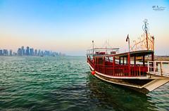 Doha Corniche (Mohamed Rimzan) Tags: doha qatar qatarliving boat sunset sky blue landscape beaty city canon tokina 80d 1116mm