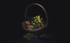 Cesto di frutta (armandocapochiani) Tags: painting light dark tones caravaggio nikon still life fruits color nature grapes tomatoes
