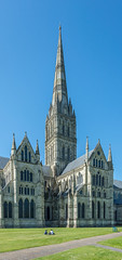 Salisbury Cathedral - Transepts and Tower (JackPeasePhotography) Tags: salisbury wiltshire tower spire transept september 2017