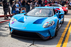 2017 Ford GT (Hunter J. G. Frim Photography) Tags: supercar car week 2017 carmel monterey carweek cannery row canneryrow ford gt red blue v6 turbo 2017fordgt riviera rivierablue