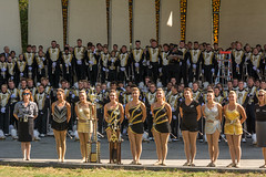Twirlers Won the National Championship (janedsh) Tags: allamericanmarchingband girlinblack goldengirl purdueuniversity silvertwins tippecanoecounty westlafayette indiana places purdue things trophy twillers