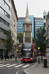 Go Ahead London EH122 SN66WOR route 42 Aldgate (TfLbuses) Tags: tfl public transport for london red double decker buses alexander dennis enviro 400 mmc hybrid go ahead