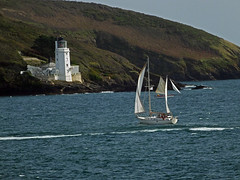 Sailing Past St Anthony Lighthouse (Cornishcarolin. Thank you for over 2 Million Views) Tags: cornwall falmouth pendennispoint riverfalestuary yachts boats stanthonylighthouse lighthouses fragglerock stanthonyhead water 1001nights 1001nightsmagiccity