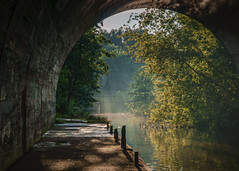 towards the light (K_R_R_2) Tags: sony a6000 nex selp18105g poznan poznań antoninek cybina tunnel
