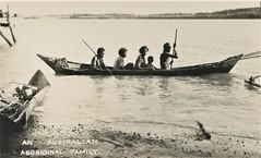 Australian aboriginal family in canoe - circa 1920 (Aussie~mobs) Tags: australia aborigine native indigenous tribal vintage 1920s aussiemobs