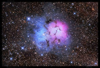 Trifid Nebula in Sagittarius ( Messier 20, NGC 6514 ) in HDR - by Mike O'Day ( 500px.com/MikeODay )