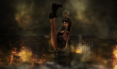 { this is your revelation } (Trinetty Skytower) Tags: sl secondlife avatar digital virtual badass kickass apocalypse revelation thereafter dystopia future grunge urban fallout wasteland foxes boon remarkableoblivion ooostudio roawenwood pose prop izzies