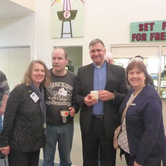 """Catching up with friends at the """"Speak Lord"""" conference on the weekend at Good Shepherd Lutheran Church in Hamilton. (Sorry, we forgot to get your photo Greg and Helen until it was too late!)"""