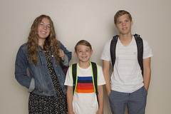 Back to School 2017 (aaronrhawkins) Tags: school children kids boy girl firstday return backpack schoolclothes pose backtoschool provo utah family son daughter excitement dread joshua jessica jackson morning prepared ready aaronhawkins