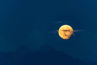 Eclipse partielle de Lune     Partial lunar eclipse