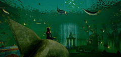 Meditation (Gothicpolar) Tags: abzu game underwater sea beautiful artstyle giant squid games pc color water