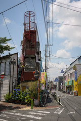 Narrow (mrcraige) Tags: tokyo japan japanese street yotsugi shitamachi building buildings 四つ木 dmcgf1 gf1