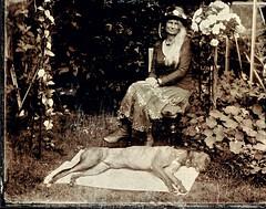 Helen & Sam (moo pa) Tags: analogue alternative analog ambrotype blackandwhite bw collodion cullompton devon exeter garden woman wetplate westcountry portrait tintype
