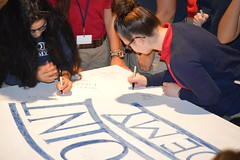 """Seniors Signing Inaugural Graduation Class Sign • <a style=""""font-size:0.8em;"""" href=""""http://www.flickr.com/photos/137360560@N02/36250301034/"""" target=""""_blank"""">View on Flickr</a>"""