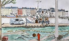 La France des Sous-Préfectures 50 (chando*) Tags: aquarelle watercolor croquis sketch france
