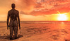 Crosby-001 (mike_p_uk) Tags: 2017 anotherplace gormley southport statue beach formby ironman sunset