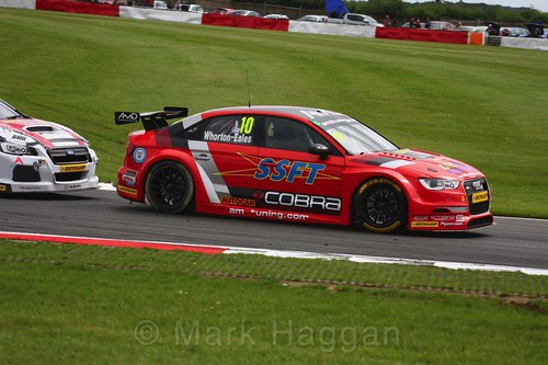 Ant Whorton-Eales in BTCC action at Snetterton, July 2017