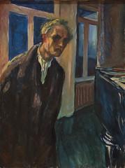 Edvard Munch, The Night Wanderer, 1923-24 (Sharon Mollerus) Tags: edvardmunchbetweentheclockandthebedexhibit sfmoma sanfranciscomuseumofmodernart sanfrancisco california unitedstates us cfptig17