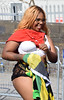 DSC_2690a Notting Hill Caribbean Carnival London Exotic Colourful Costume Showgirl Performer Aug 28 2017 Stunning Big Beautiful Woman with White Bra and Flag of Jamaica (photographer695) Tags: notting hill caribbean carnival london exotic colourful costume showgirl performer aug 28 2017 stunning lady big beautiful woman bbw with white bra flag jamaica