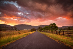 Castlereagh Sunsets || NSW || AUSTRALIA (rhyspope) Tags: australia aussie nsw new south wales canon 5d mkii castlereagh londonderry penrith blue mountains bluemountains rhys pope rhyspope sunrise sunset storm color colour sky clouds road street avenue fence farm rural countryside country