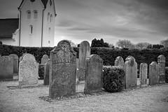 Historical Graveyard (Rene'D.) Tags: 2017 amrum schleswigholstein germany graveyard tomb church historic bw bnw sw monomono schwarzweiss schwarzweis historical nebel