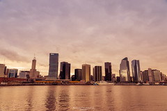 Facing the river (Mariano Colombotto) Tags: buenosaires argentina city cityscape skyline urban arquitectura architecture buildings edificios nikon travel photographer photography river water clouds cloudy nublado nubes atardecer sunset ciudad infinitexposure autofocus