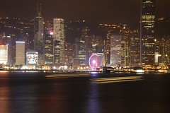 Harbor at Night (superzookeeper) Tags: canoneos5dmarkiv 5dmk4 5dmkiv hk hongkong ef2470mmf28liiusm tst tsimshatsui lighttrail longexposure night city ifc skyline eos internationalfinancecenter central