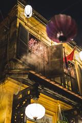 Time Travel (holzer_r) Tags: vietnam lanterns hoian asia night smoke light window pane