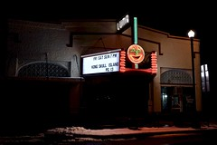 The Luna Theater - Clayton,New Mexico (Rob Sneed) Tags: usa newmexico clayton lunatheater moviehouse movies sign neon americana luna marquee smalltown downtown urban snow independent business advertising theater