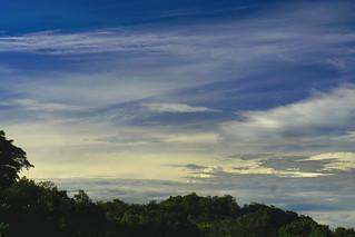 Nubes de la mañana sobre el valle del general.