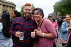 Enjoying the day (* RICHARD M (6.5+ MILLION VIEWS)) Tags: street portraits portraiture streetportraits streetportraiture smiles fun couples togetherness drinking happy happiness glitter facepainting pullingtongues tonguepulling plasticglasses redhead redheaded ginger thumbsup quiff liverpoolpride gaypride lgbt liverpudlians scousers merseysiders liverpool merseyside europeancapitalofculture capitalofculture july summer summertime