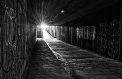 Urban sunrise (Vest der ute) Tags: xt2 norway rogaland haugesund graffiti underpass sunrise lights stairs sunstar earlymorning fav25 fav200