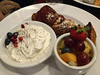 French toast roulade (Ruth and Dave) Tags: locus restaurant mainstreet rileypark vancouver frenchtoast roulade whippedcream fruit breakfast brunch dish meal
