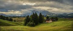 Early morning at the Alpe di Siusi (rinogas) Tags: italy trentino tyrol dolomites alpedisiusi cloud rinogas