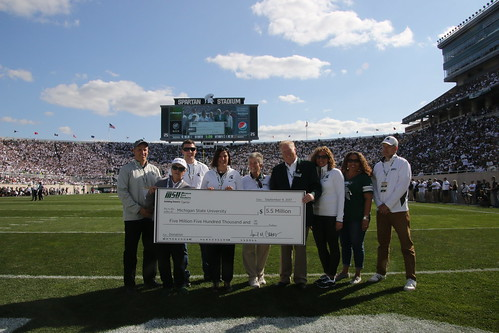 MSUFCU Gift Announcement at Spartan Stadium, September 2017