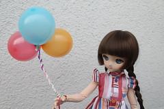 Balloons!!! (Ninotpetrificat) Tags: doll dd dollfiedream dollfie volks mdd ddh10 balloon luftballon globos bunt hobby handmade hechoamano muñeca japandoll japantoy toys juguete cute kawaii puppe