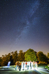 20170820_F0001: The Galaxy hunters' meeting (wfxue) Tags: astronomy night sky milkyway andromeda galaxy m31 messier31 emission nebula stars dark bright trees forest woods road people group meeting photographers tripod light longexposure