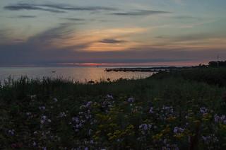 Sunset in Hittarp tonight