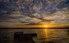 Sunset at Borgmeren (koos.dewit) Tags: borgmeren fuji fujixt2 fujifilm fujinonxf1024mm harkstede holland koosdewit thenetherlands clouds jetty koosdewitnl lake landscape reflections sunset