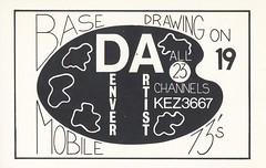 Denver Artist: Denver Artist - Denver, Colorado (73sand88s by Cardboard America) Tags: qsl cb cbradio vintage qslcard colorado denverartist artistcard