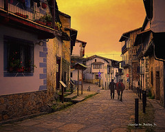 Digital Pastel Drawing of a Street in Candelario by Charles W. Bailey, Jr. (Charles W. Bailey, Jr., Digital Artist) Tags: sunset man horse street cityscape candelario spain europe photoshop photomanipulation topaz topazlabs topazrestyle alienskin alienskinsoftware alienskinexposure topazimpression nikcolorefexpro topazlenseffects topazstudio drawing pastel pasteldrawing art fineart visualarts digitalart artist digitalartist charleswbaileyjr