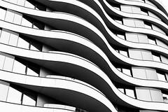 Undulation (Douguerreotype) Tags: balcony monochrome london uk blackandwhite abstract british buildings mono architecture city britain urban gb bw housing england
